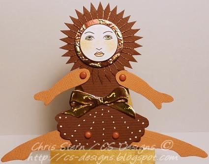 Copper Spirelli Shape Paper Art Doll