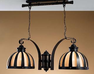 lampara de techo rustica, lampara salon, iluminacion lamparas