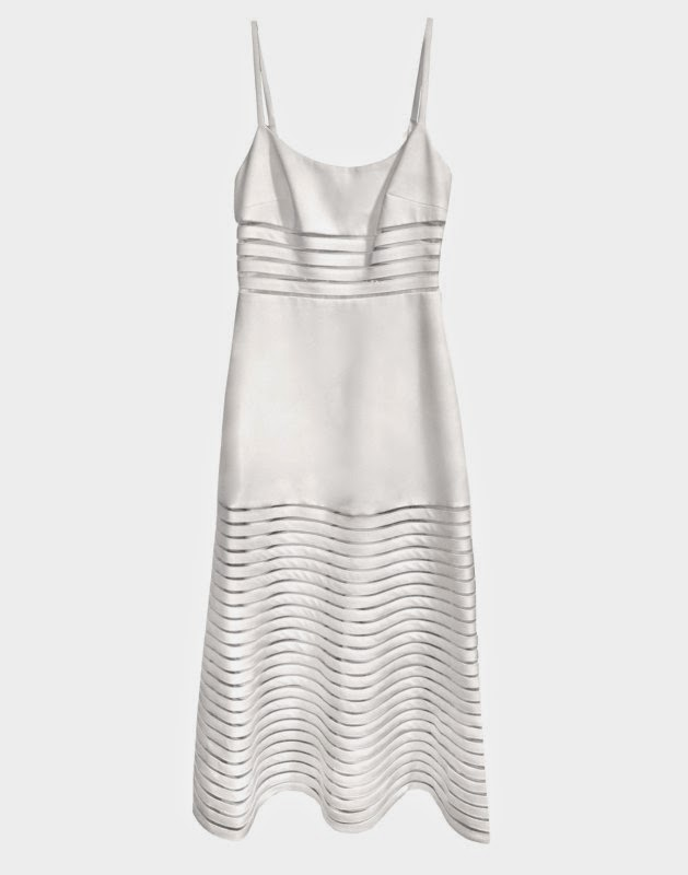 Crepe Ribbon Slip Dress in Cream