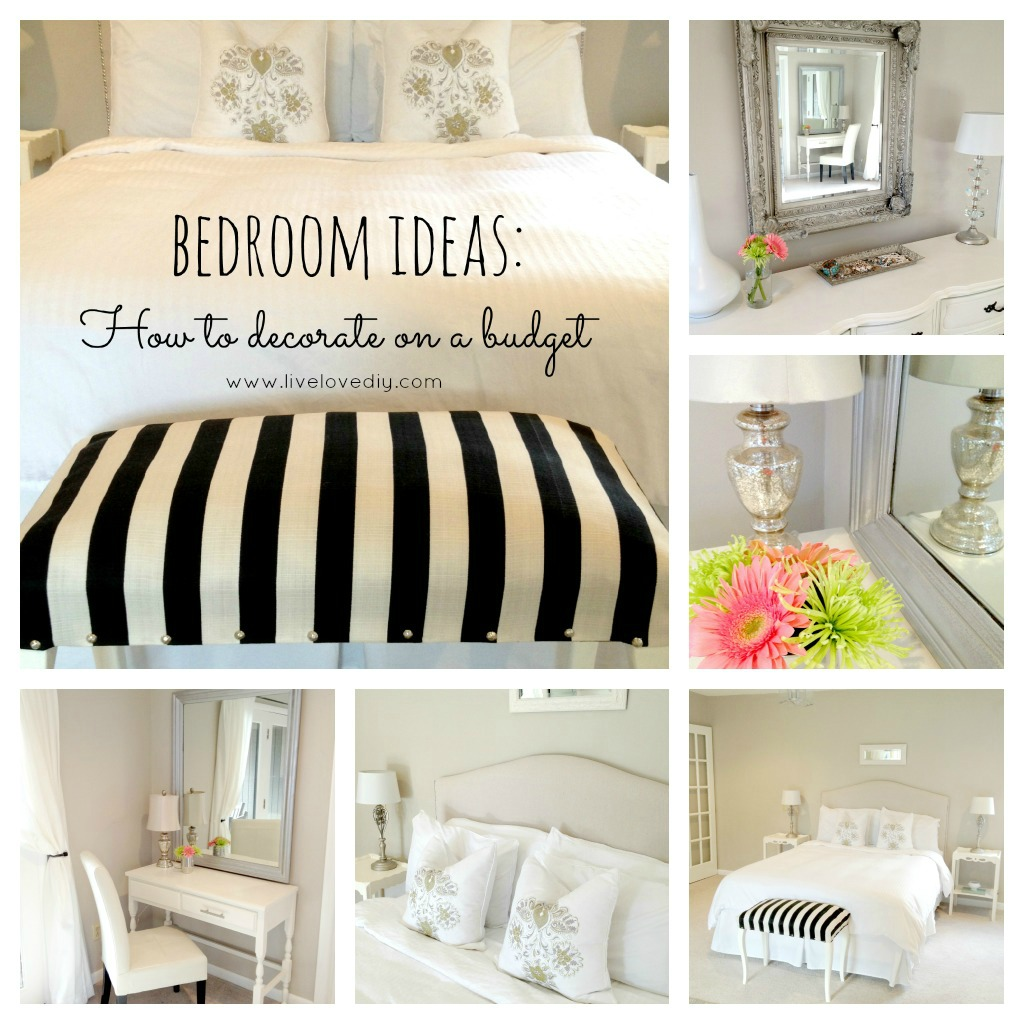 Livelovediy master bedroom updates Cheap decorating ideas for bedroom walls
