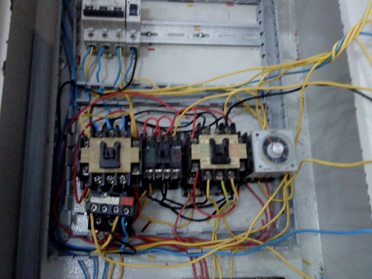 panel pengendali motor 3 fasa bintang segitiga otomatis