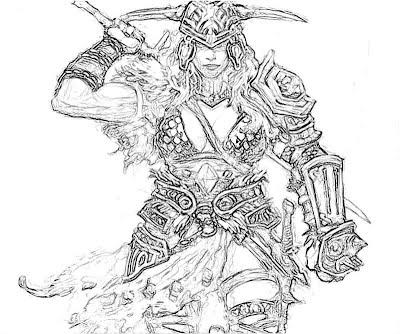 Diablo 3 Barbarian Female 2 Yumiko Fujiwara