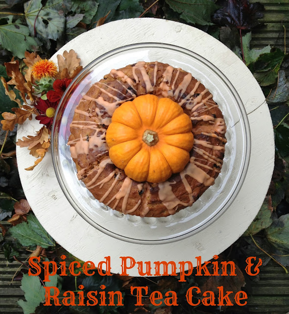 Spiced Pumpkin and raisin tea cake recipe