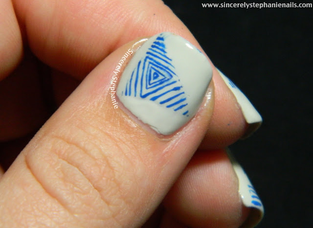 triangle nail art