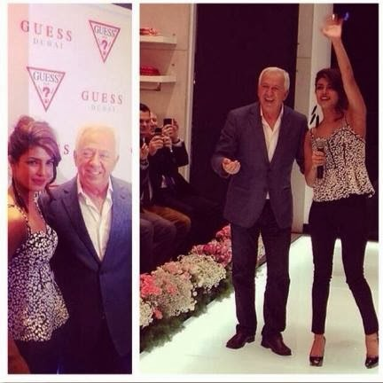 Priyanka Chopra at GUESS store launch in dubai with PaulMarciano