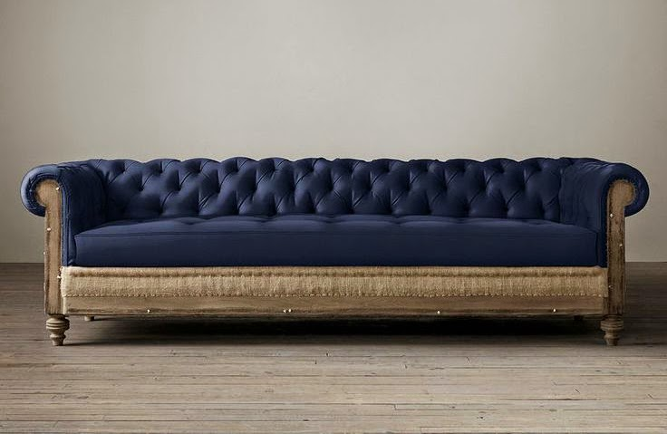 Restoration Hardware Deconstructed Chesterfield Upholstered Sofas | 736 x 479 · 53 kB · jpeg