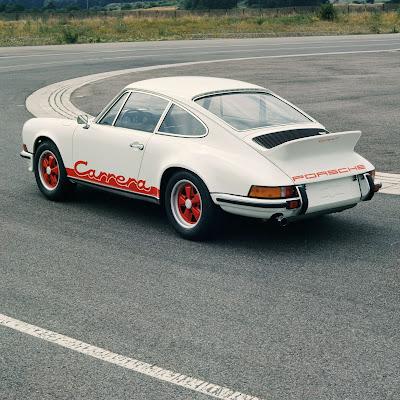 Porsche 911 Carrera RS 2.7 Coupé, August 1972, test logo