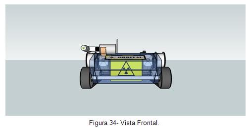 Vista frontal -  Veículo movido por esteiras Orbital