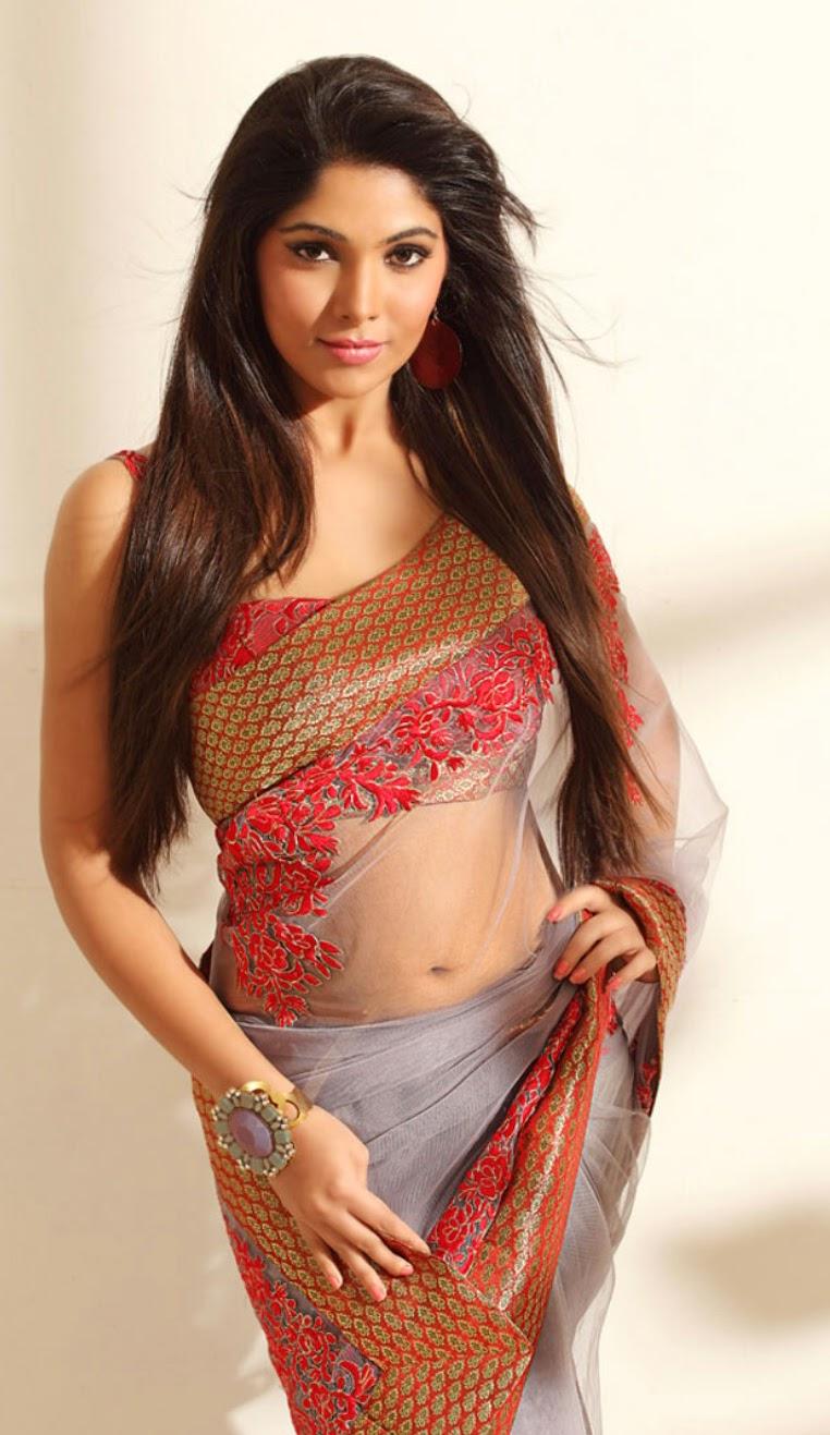 sexy desi bhabhi mukta hot saree pallu drop exposing big juicy mangoes ...