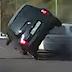 CCTV: Senggol Pantat, Nissan Micra Terbalik [Video]