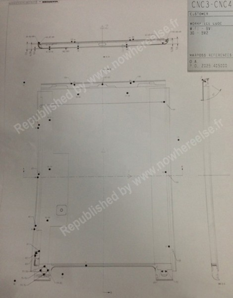 Divulgato sul web lo schema tecnico dell'iPad 5 che dovrebbe avere dimensioni 232 x 178,5 x 7,9 mm
