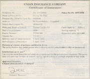 . really the legal contract between the insured and the insurance company.