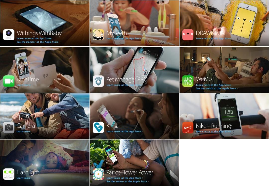 "Apps do vídeo ""Paternidade"" do iPhone 5s"