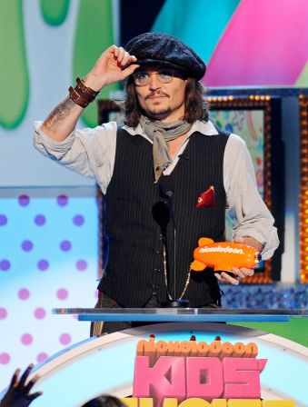 johnny depp kids choice 2011. johnny depp kids choice 2011.