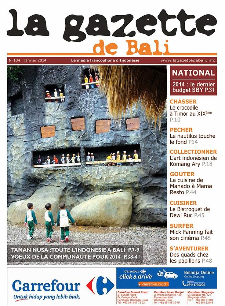 La Gazette de Bali janvier 2014