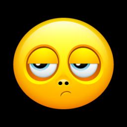 niet leuk emoticon
