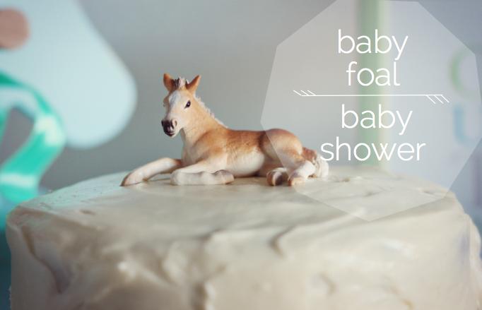 Beccamarie Designs Baby Foal Baby Shower