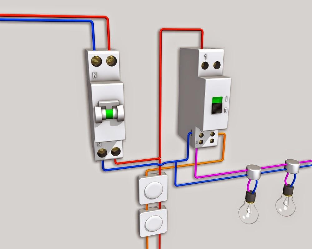 Sch mas lectricit maison - Schema electrique simple allumage ...