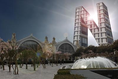 gare de Tours projet ilot Vinci : la tour N