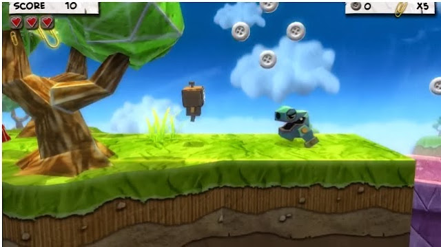 Screenshot of Wii U version of Paper Monsters