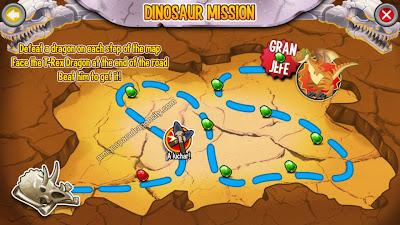 imagen del mapa de combates de la isla dinosaurio de dragon city para ipad y iphone