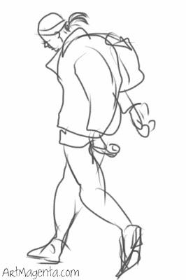 Gesture Drawing by ArtMagenta