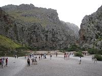Vista de la desembocadura del Torrent de Pareis