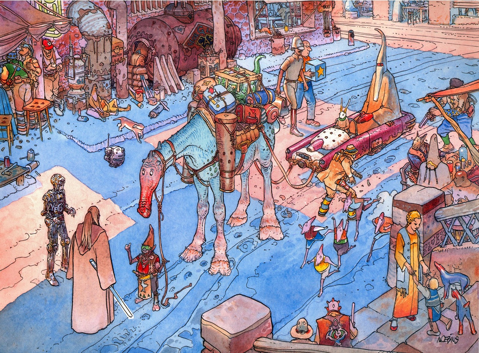 Star Wars Visions Moebius Au revoir Jean Giraud Moebius