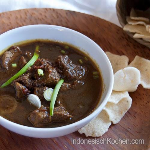 Rawon Schwarze Suppe rezept