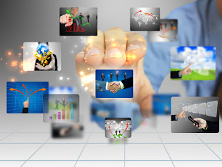 Social Customer Relationship Management CRM photo collage