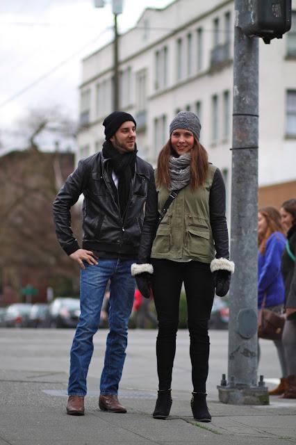 Matthew Moore Josefina Hellensberg Leather sleeves cowboy boots seattle street style fashion it's my darlin'