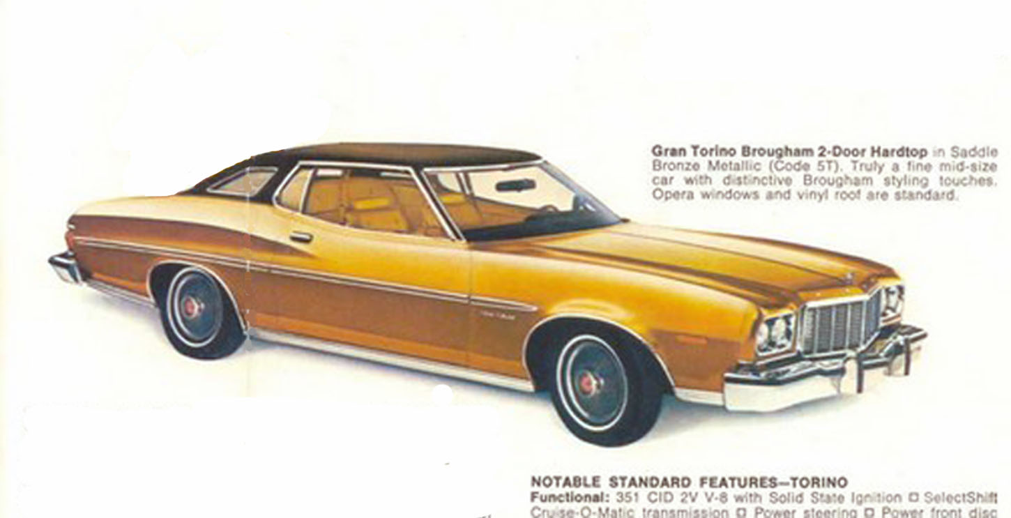 Lost Star Cars Gary Rossingtons 1976 Ford Torino 1970 Ac Wiring Diagram Garys Car Was A Shade Darker Than This Resembling Metallic Gold His Hubcaps Were The Older 1973 Versions