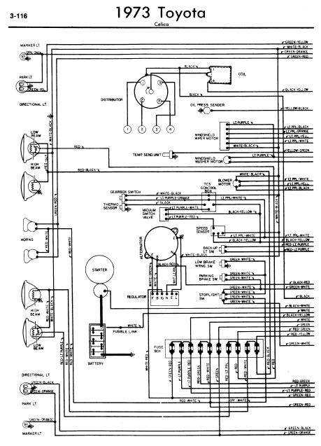 Repair manuals toyota celica a wiring diagrams