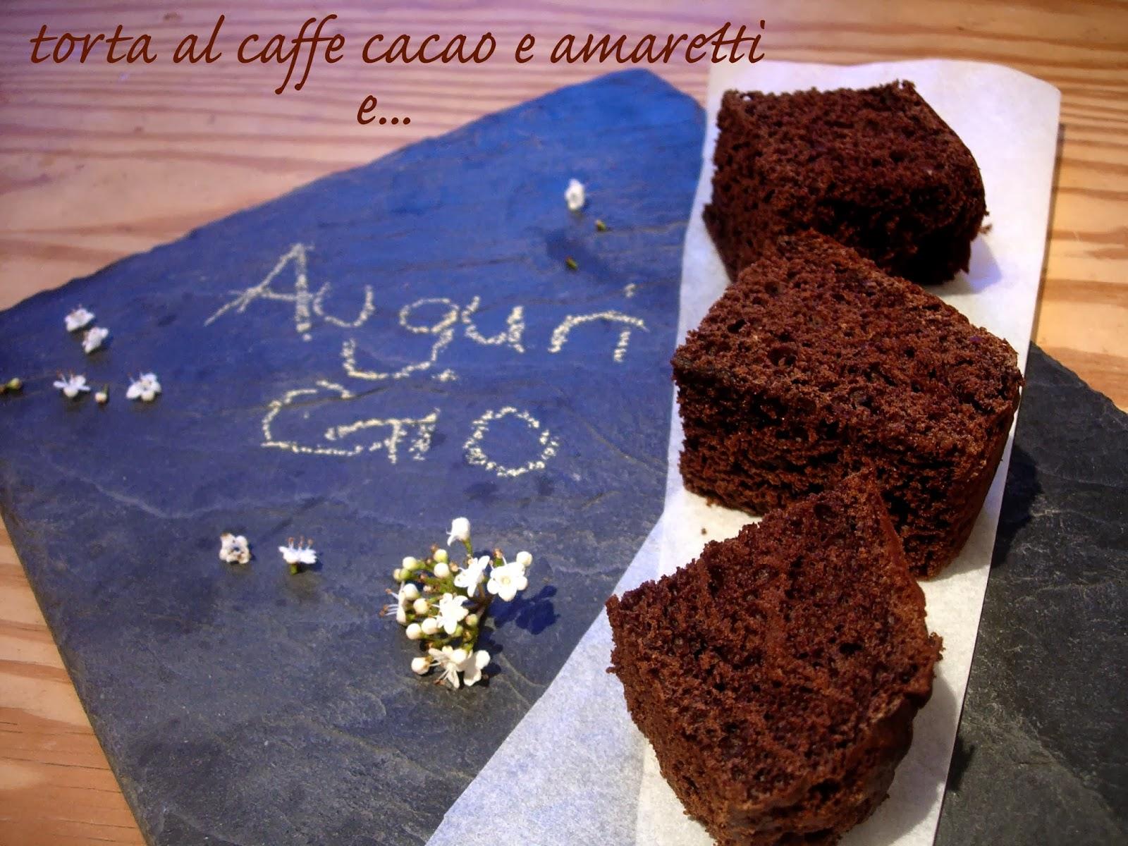 torta al caffe, cacao e amaretti