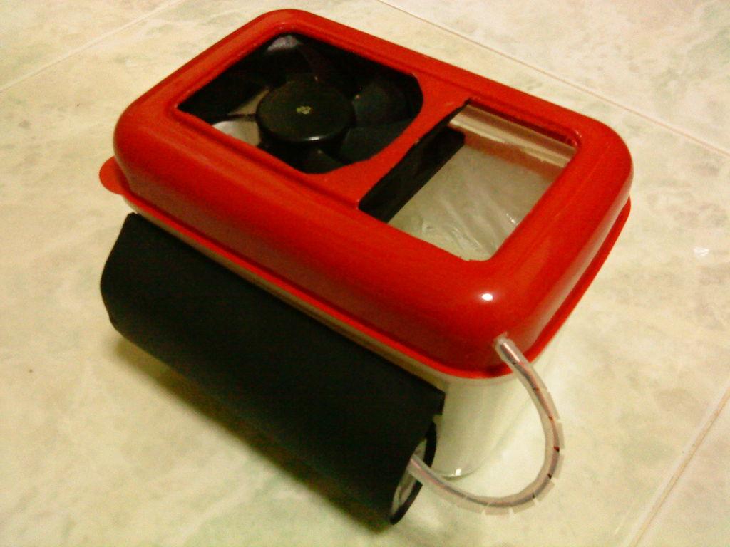 Setelah dipasangi dengan battery untuk power kipas angin mini