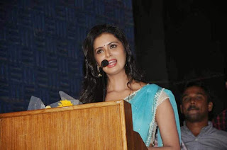 Actress Meenakshi Dixit Latest Pictures in Saree at Thenaliraman Movie Audio Launch 7.jpg