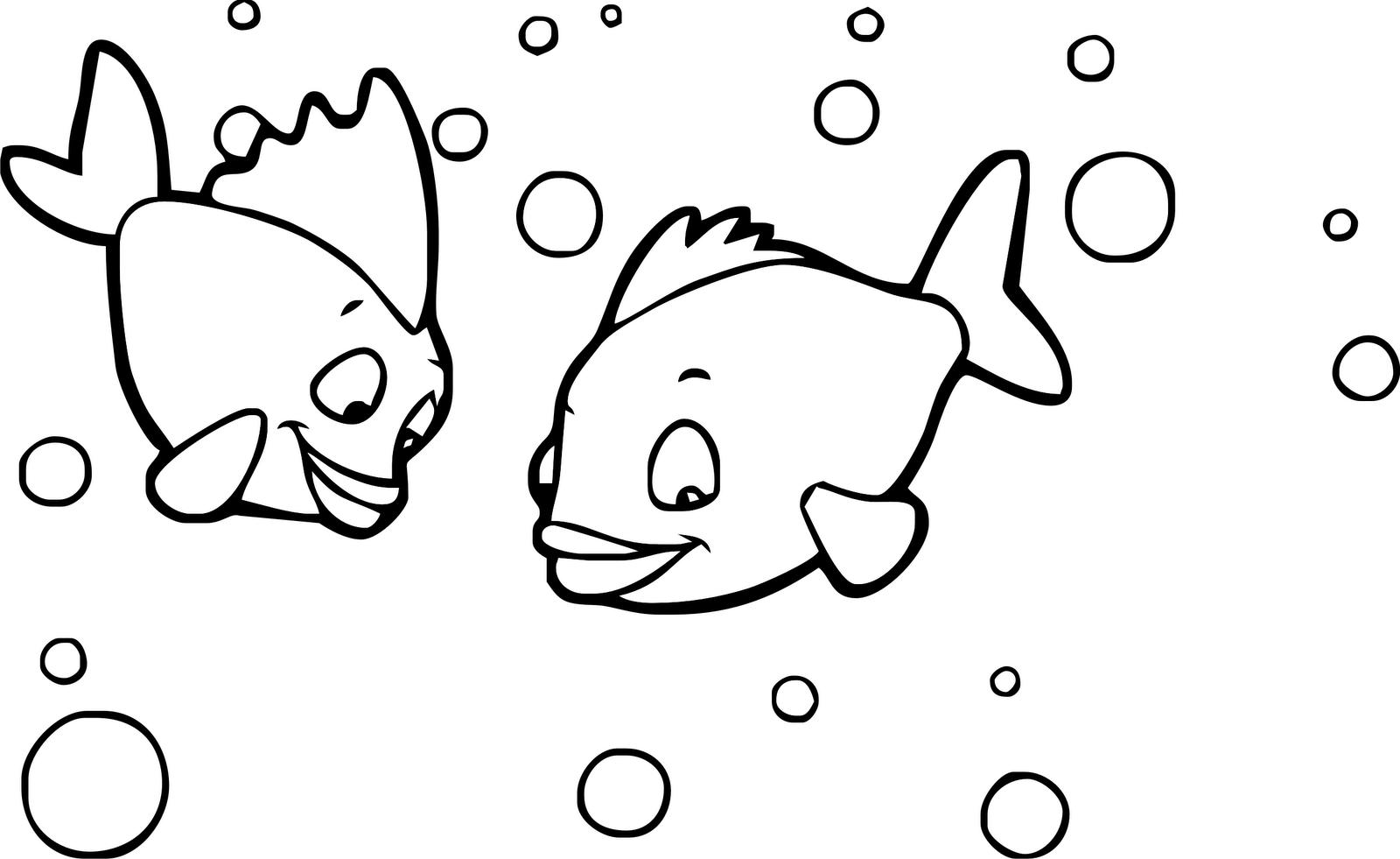 Disegni di pesci da colorare for Pesci da colorare per bambini