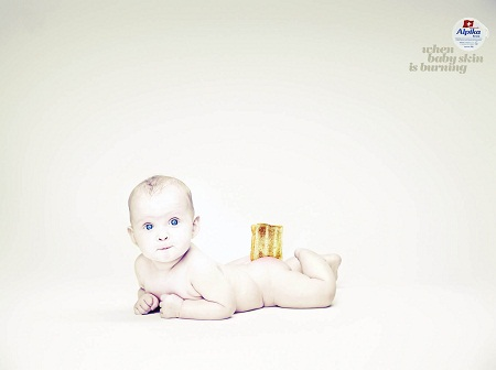 Alpika Anti-Rash Cream amusing and humorous print ads