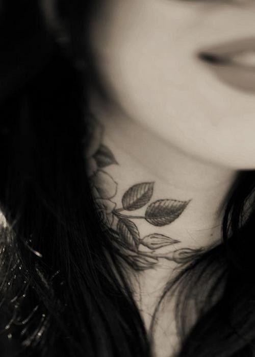 Nice on the neck female tattoofemale tattoos gallery for Female neck tattoos