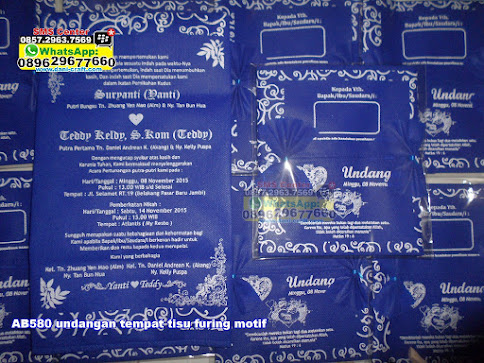 undangan tempat tisu furing motif jual