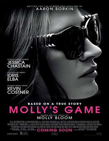 Poster Of English Movie Molly's Game 2017 Full DVDScr Movie Free Download Watch Online