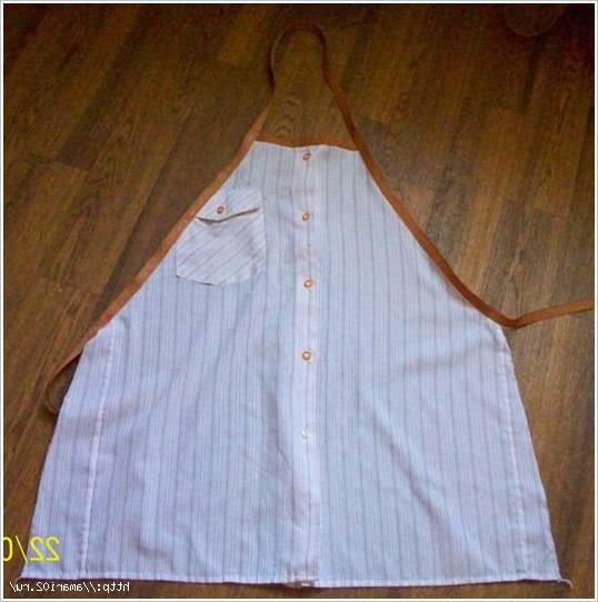 Как сшить фартук из мужской рубашки. \  apron from a man's shirt