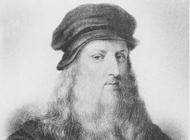 Leonardo Da Vinci retratado en su juventud