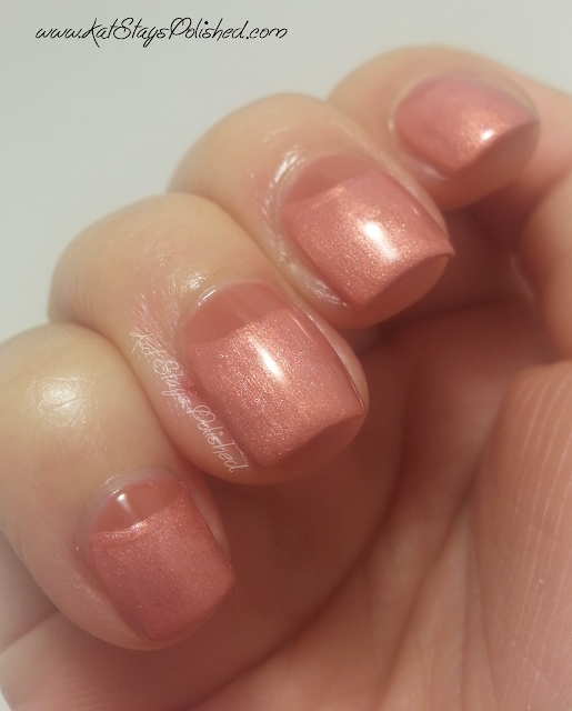 JulieG Nail Color - Chic Cipro & Southwest Sunset Half Moon Manicure