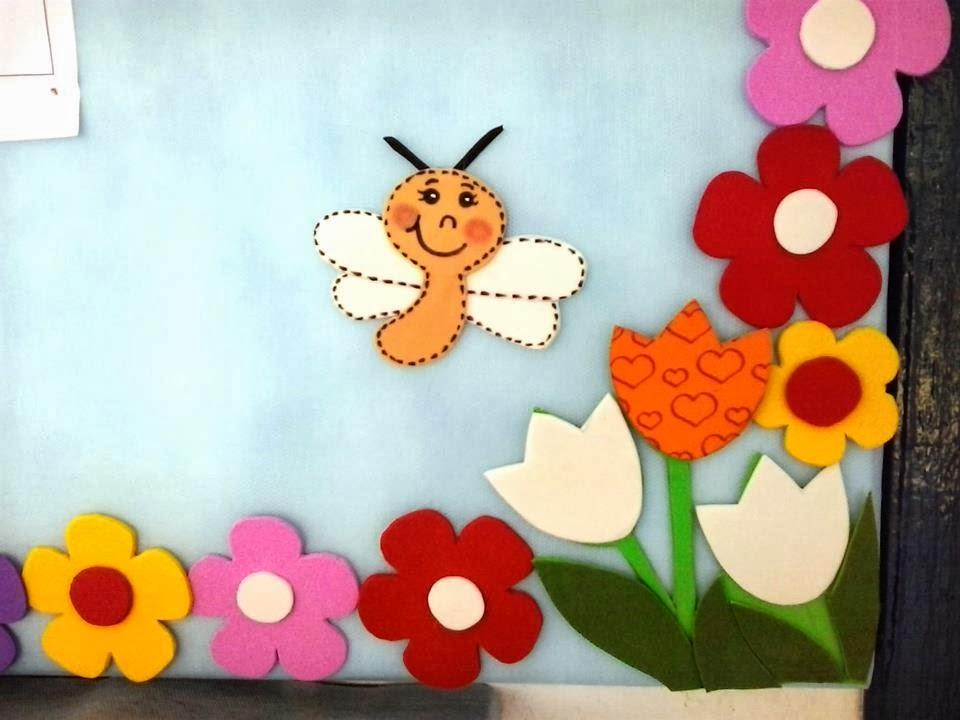 decoracao sala de aula jardim encantado:modelo de painel de sala de aula feita por sandra pina silveira