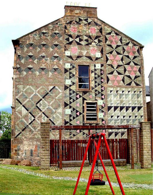 interiors design murals floors design bricks house old building