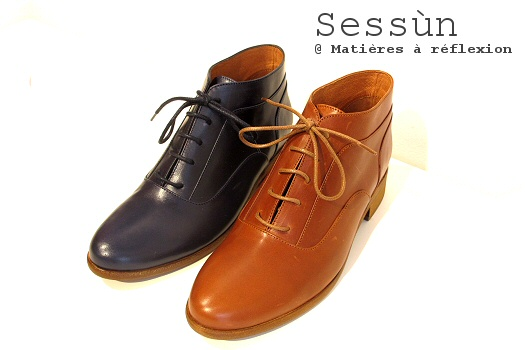 Derbies montantes cuir Sessùn