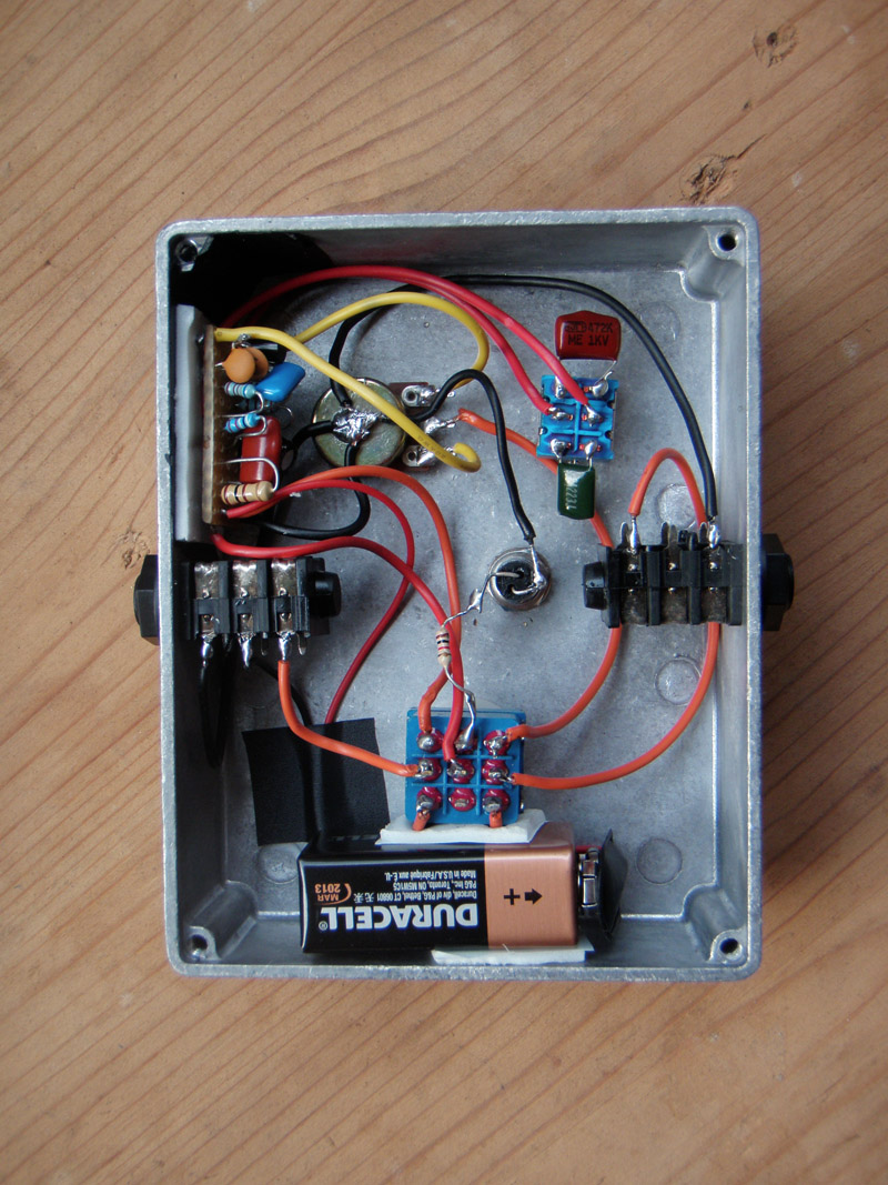Building A Quick Brian May Style Treble Booster On Veroboard Diy Schematic Guitar Pickup Wiring Diagrams Strat And Other Audio Projects
