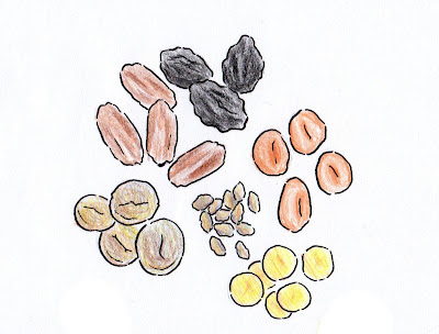 draw dried fruit