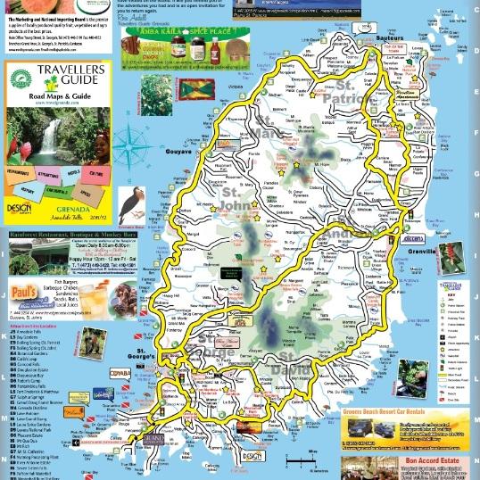 MOTIVATOR Grenada Bus System - Road map of grenada island